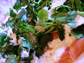 Smoked Salmon with Water Cress