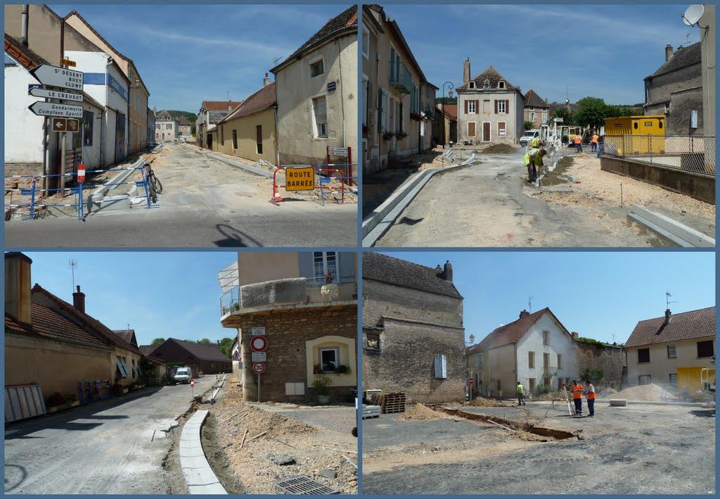 Mairie de givry les travaux du boulevard saint martin vont bon train - Restaurant boulevard saint martin ...