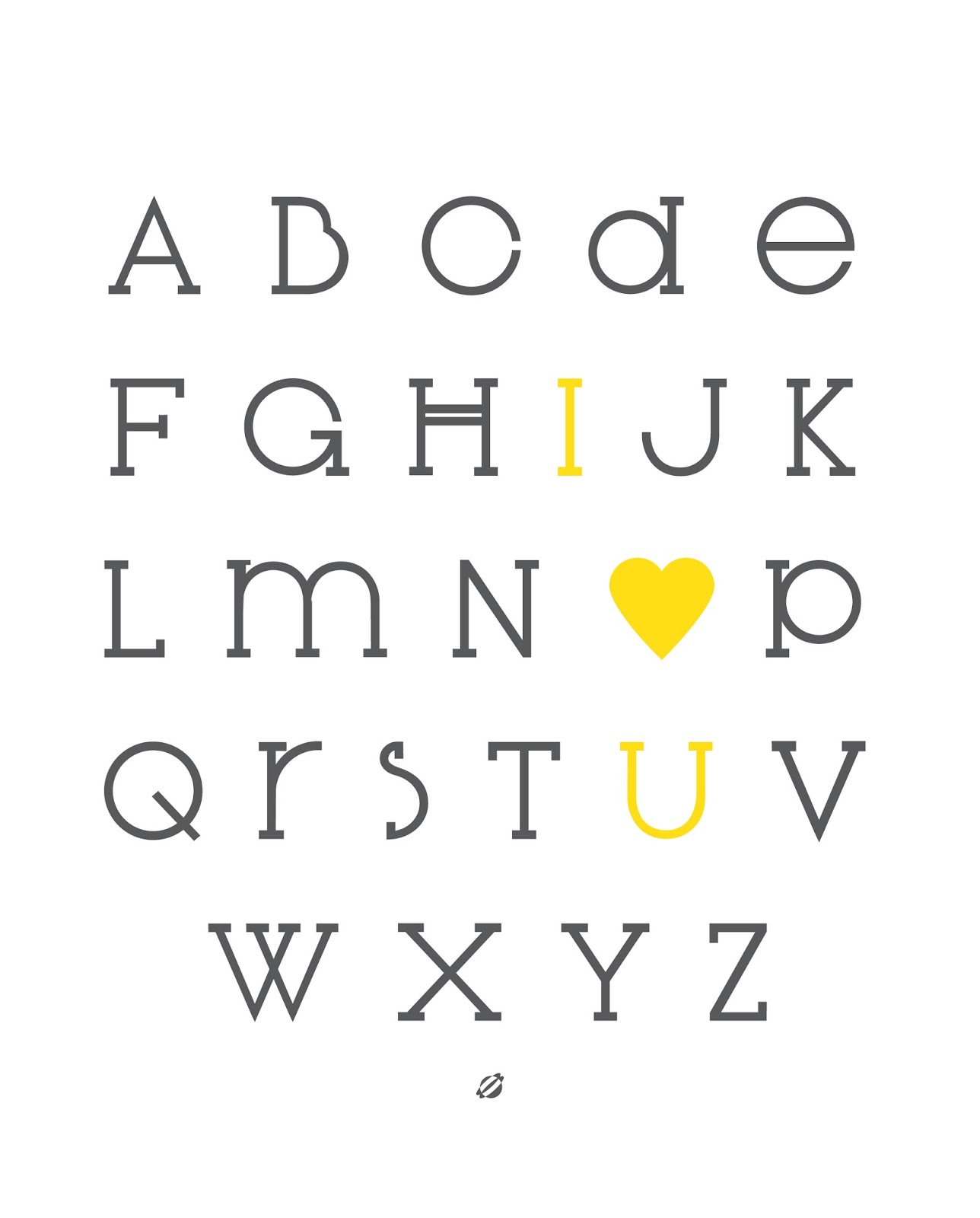 LostBumblebee ©2013 IOU Alphabet- #freeprintable Personal use only