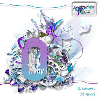quick digital scrapbooking page white silver flowers free download png