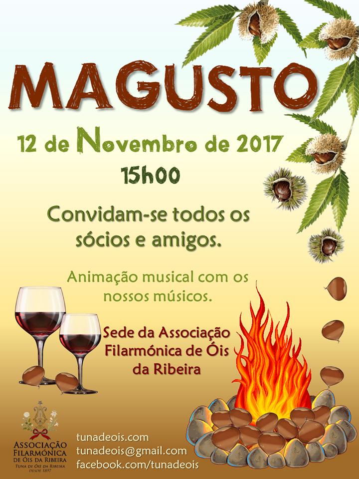 MAGUSTO DA TUNA MARCADO PARA 12 DE NOVEMBRO DE 2017!