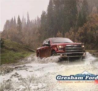 2016 F-150 driving thru a creek