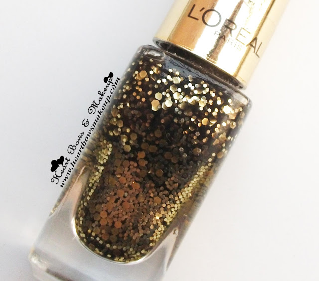 L'oreal Paris Color Riche Le Vernis Glitter Flaming Sunset Review Swatch Price Buy Online India