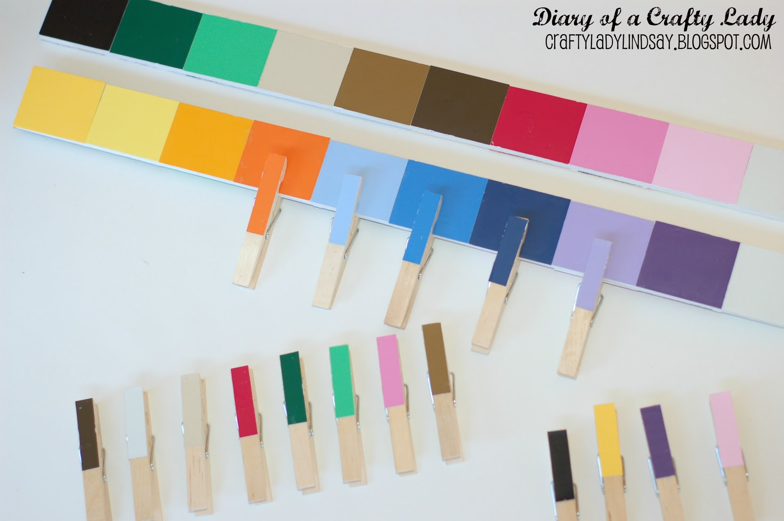 Diary of a crafty lady paint stick paint chip color for Paint color match