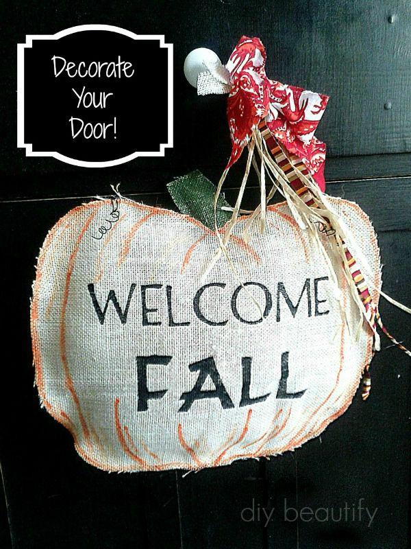 Fall Door Decor & Fall Door Decor | DIY beautify