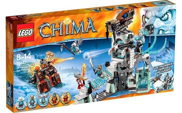 Lego CHiMA Sir Fangar's Ice Fortress