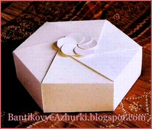 Шестиугольная упаковка для подарка