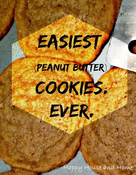 easy cookie recipe, peanut butter cookie, cookie recipe