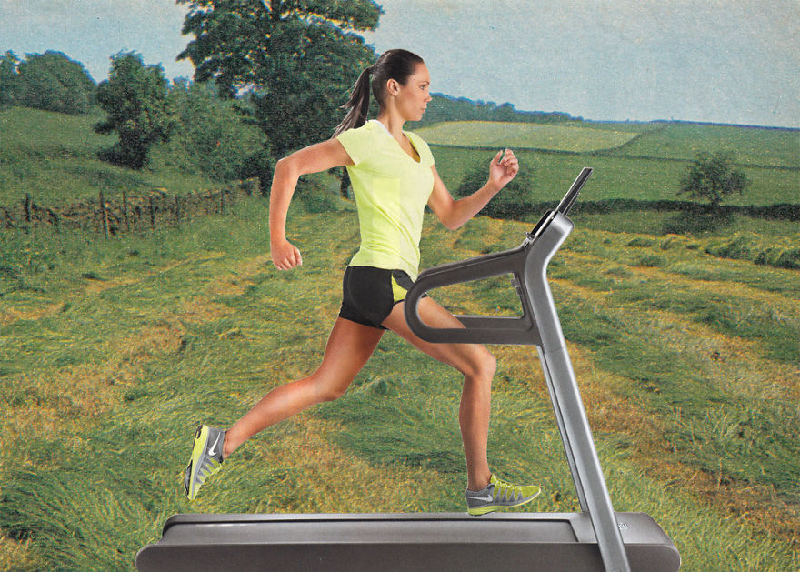 35 Cynical Collages That Tell Uncomfortable Truths About The World - Treadmill