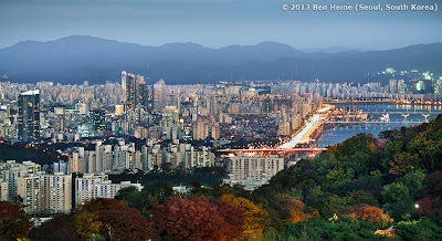 Seoul Panorama and buildings and Han River - South Korea - Photo by Ben Heine