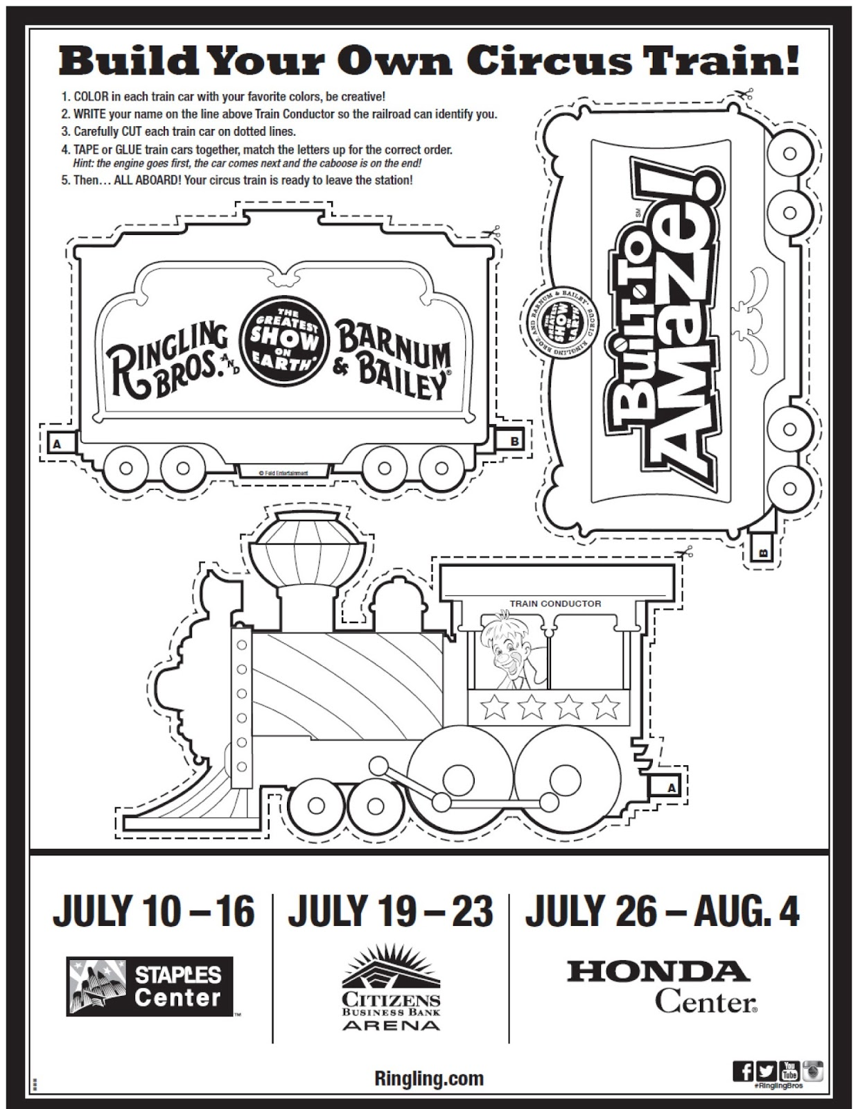 circus train coloring pages - photo#11