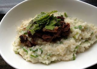 Braised Beef Shank with Coconut Risotto