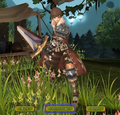 Tampilan Halaman Start Game Ragnarok Online 2
