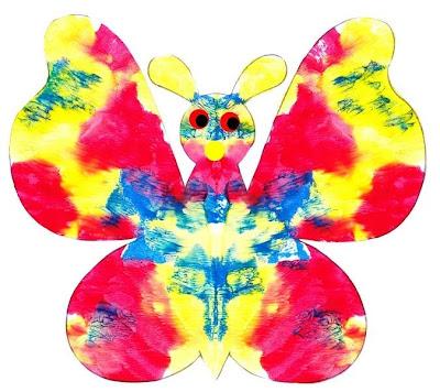 Papillon peinture «feuille pliée»