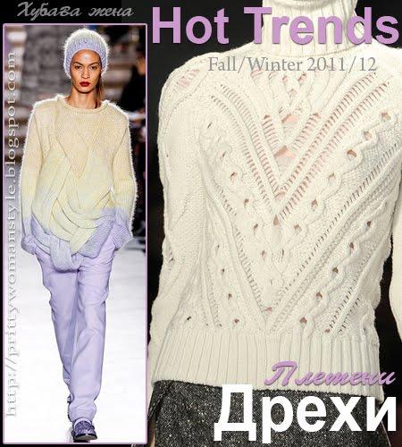 Плетени дрехи Тенденции есен/зима 2011/12