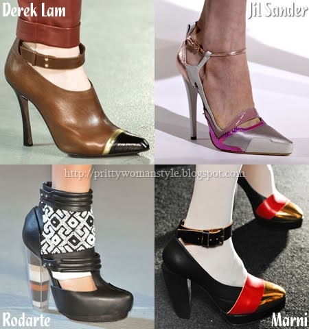 Обувки с каишка около глезена
