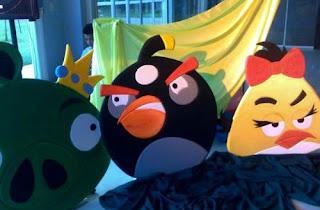 dekorasi styrofoam angry bird