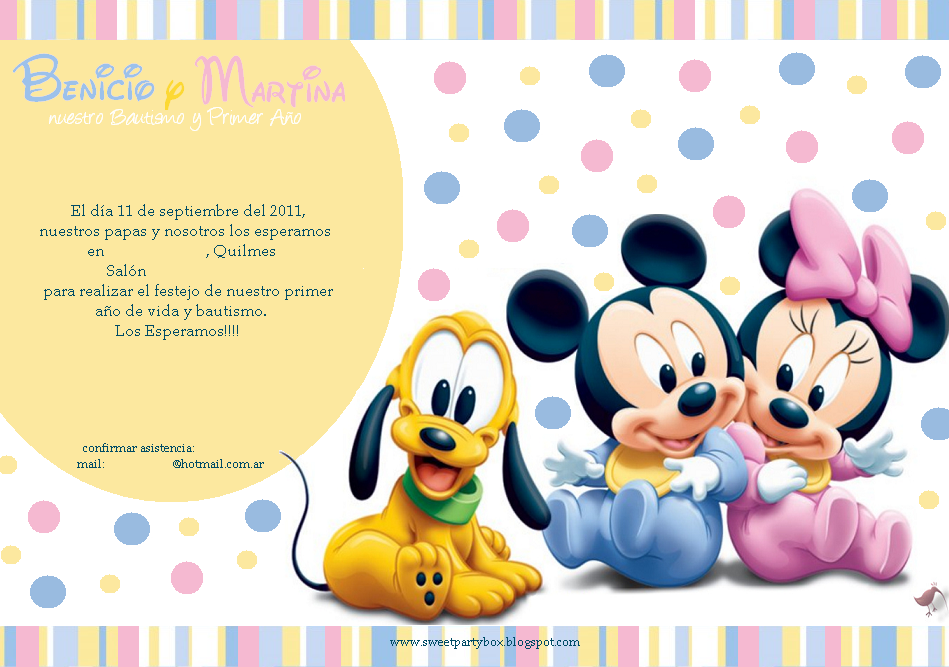 Sweet Party Box: BaBy DiSnEy: Primer Año y Bautismo de Martina y ...