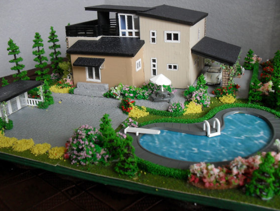 Modern mini houses for Building model houses