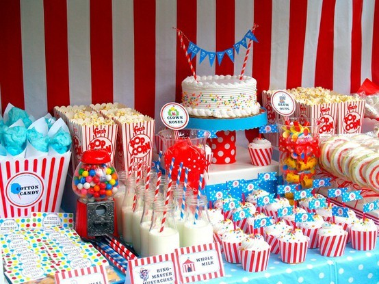 Celebrate and decorate a circus party - Carnival theme party supplies ...
