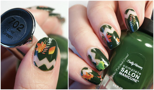 Leaf Water Decals Nail Art