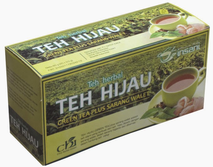 Teh herbal GREENTEA plus sarang walet CHI