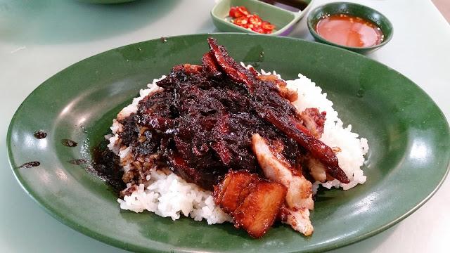 char siu roast pork rice with braised sauce
