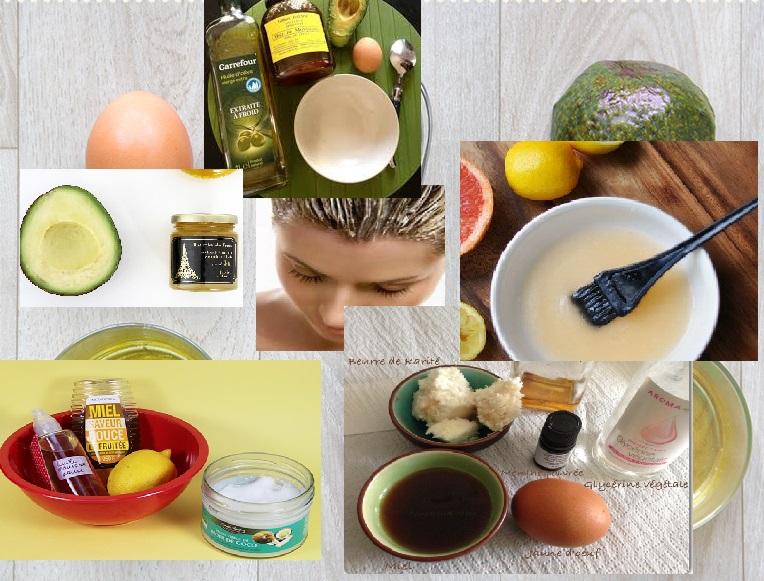 Masque naturel pour nourrir cheveux