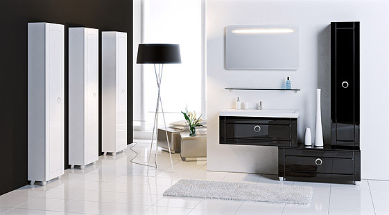 Сантехника на фото: мебель Aqwella Infinity для ванной комнаты