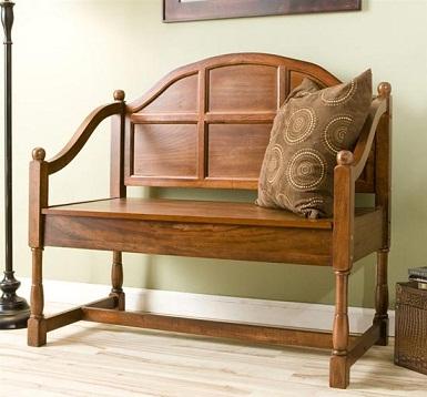 Decoracion styles elegantes bancos de interior - Bancos de madera para interior ...