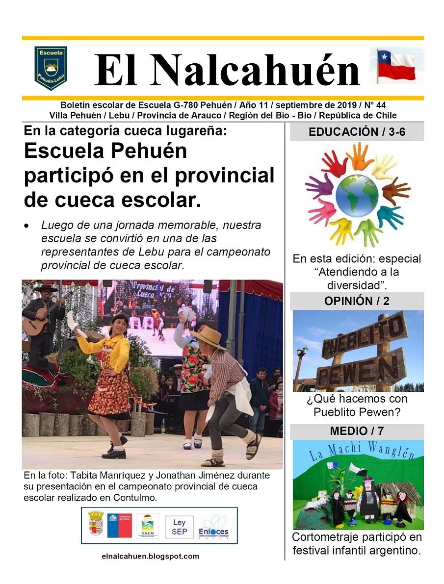 El Nalcahuén IMPRESO N° 44 (Septiembre de 2019).