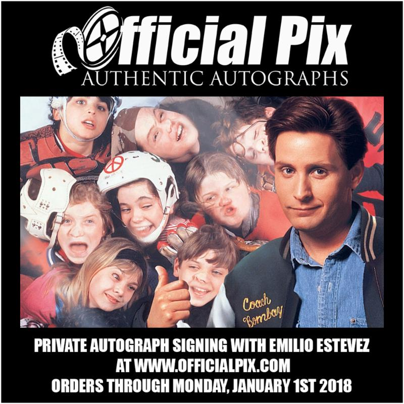 Official Pix signing with Emilio Estevez!