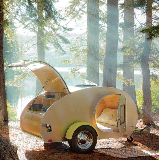 caravane en bois