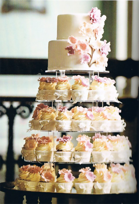 Wedding Dress Cupcake Cake 64 Ideal Photo via Pinterest