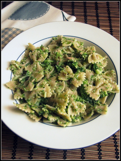 Farfalle with Broccoli and Tuna Recipe prepared with Thermomix