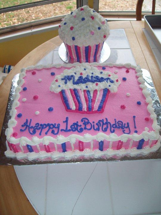 BB Cakes 1st birthday cupcake