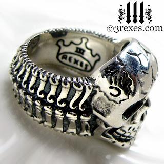 mens silver skull ring