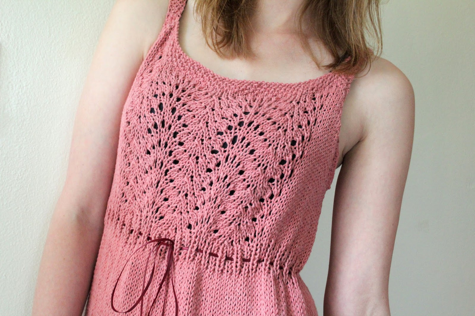 Summer Knitting Patterns : The Fuzzy Square: Summer Knit Sun Dress with Lace