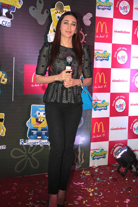 karisma kapoor launches spongebob squarepants happy meal actress pics