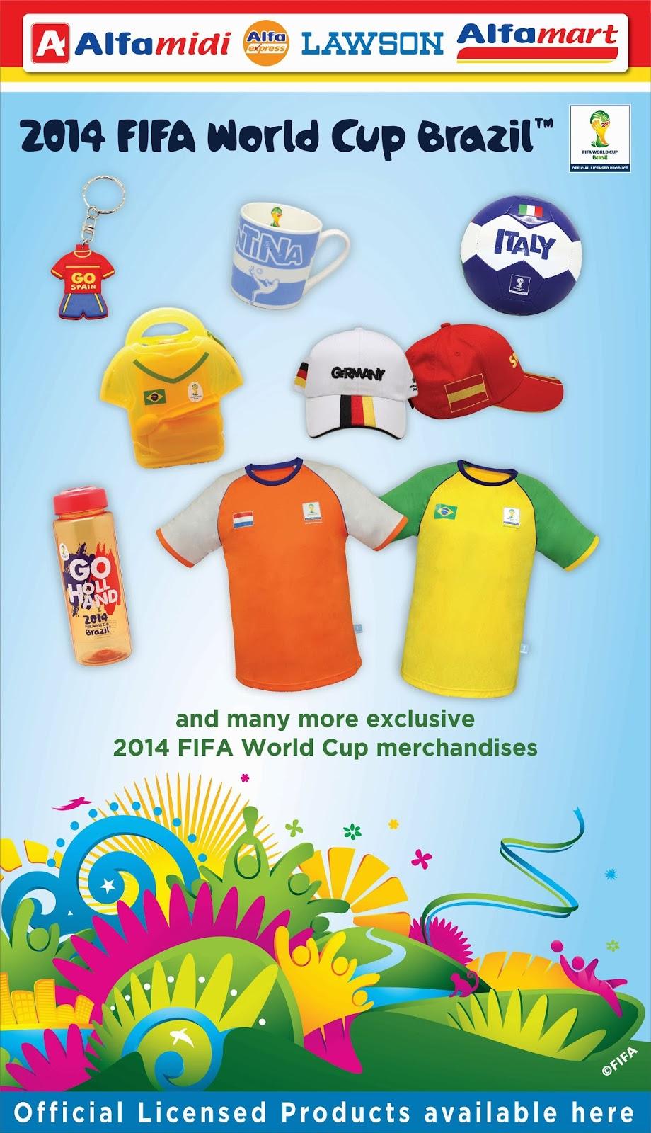 official partner merchandise FIFA piala dunia Brazil 2014