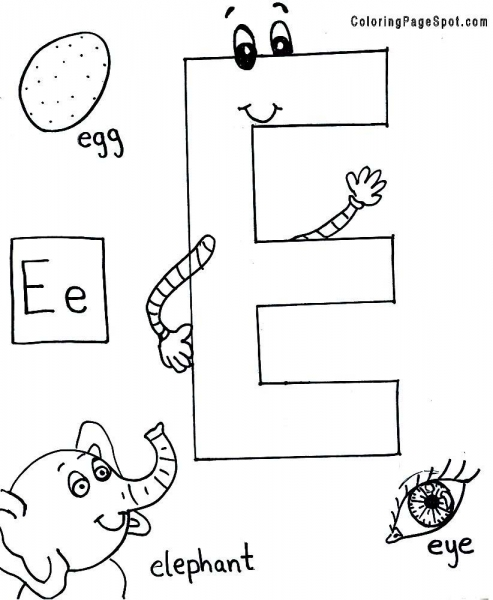 Coloring Pages For Kids Letter E Coloring Pages For Kids