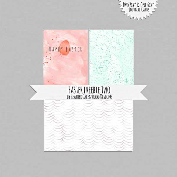 Heather Greenwood | Easter/Spring Journal Cards Two | Freebie | Printables