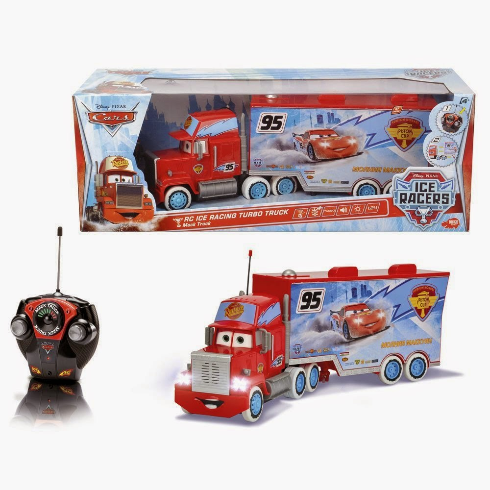 Juguetes disney cars ice racers rc ice racing turbo truck mack truck cami n - Juguetes disney cars ...