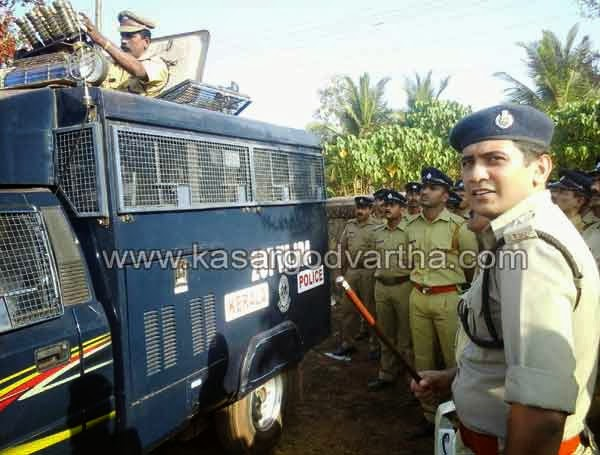 AR Camp Weapon Training, Police, Election, Lokha sabha, Kasaragod, Kerala.