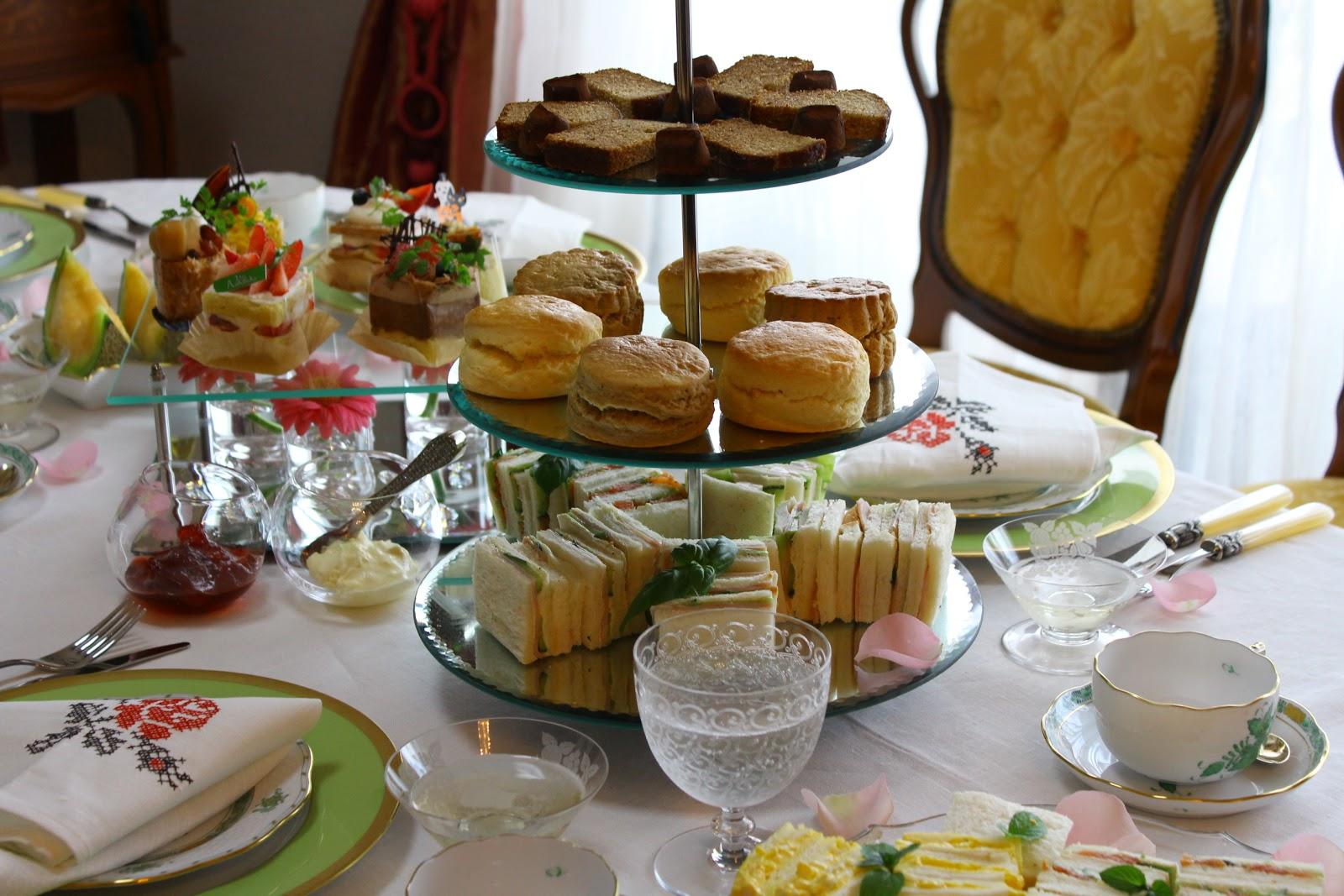 table de france  afternoon tea table decoration