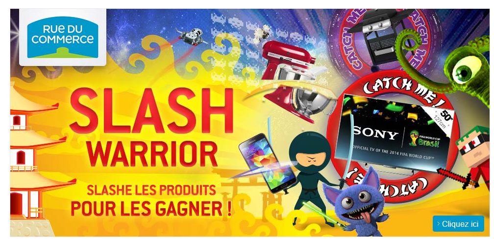 jeu slash warrior sur rue du commerce