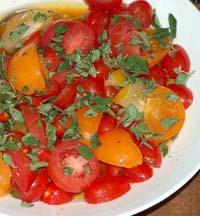 Weight Loss Recipes : Tomato Salad with Orange Cilantro Vinaigrette