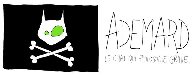 Ademard, le chat qui philosophe grave.
