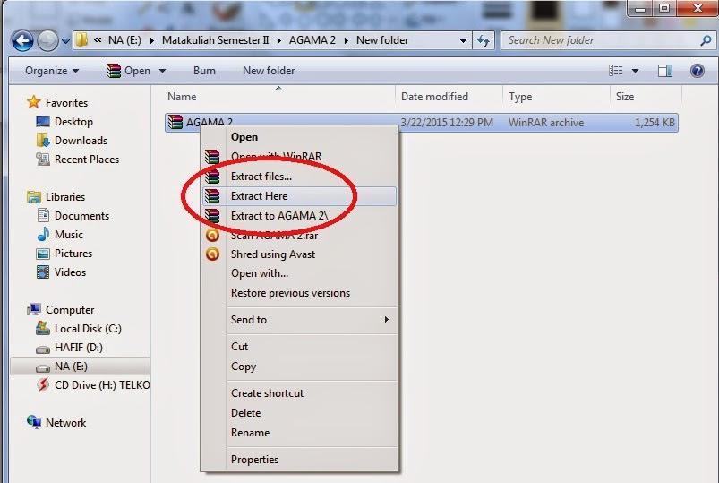 Cara Mengextract File Zip atau WinRar Dengan Mudah, Cara membuka file winrar