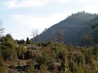 Vista de l'ermita de Santa Perpètua a la vessant dreta del Rec de la Tuta